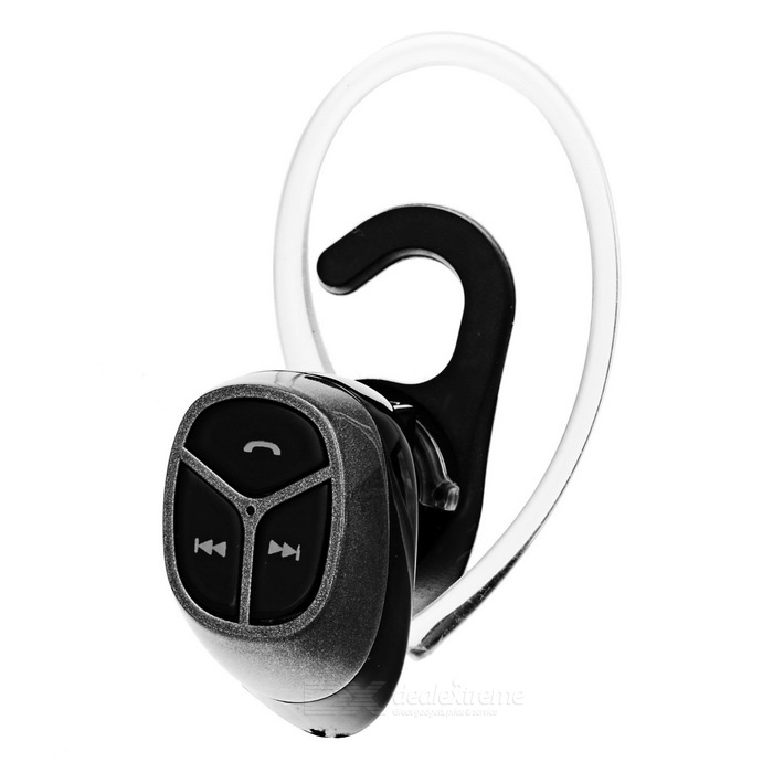 Mini Wireless Bluetooth V4.0 fone de ouvido Ear-gancho de desporto - Preto