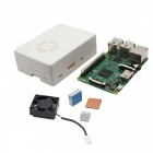 Raspberry Pi 3 Model B + ABS Matte Case + Heat Sink + Fan Kit