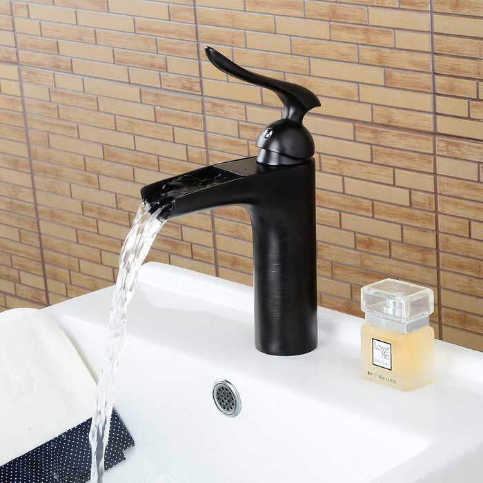 Personalized Oil-rubbed Bronze Waterfall Bathroom Sink Faucet ...