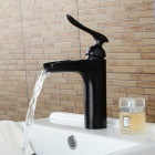 Personalized Oil-rubbed Bronze Waterfall Bathroom Sink Faucet - Black