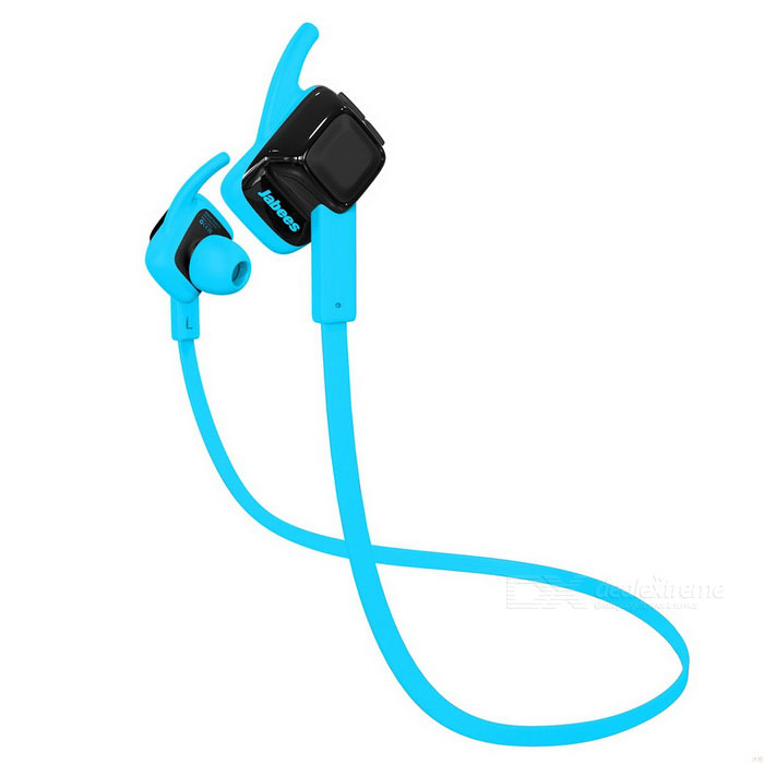 Jabees Waterproof In-Ear Sports Bluetooth Headset - Black + Blue