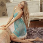 Woman's Fashionable Sexy Lingerie Suit - Blue