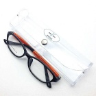 Fashion Super Light Spring Leg Flat Myopia Glasses - Black + Yellow
