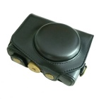 G7X Crazy Horse Leather Camera Case for Canon G7X - Black