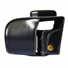 EM10 Crazy Horse Leather Case Camera para Olympus EM10 - Black