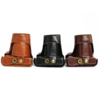 Crazy Horse Leather Camera Case para FujiFilm XA2 / XA1 / XM1 - Preto