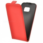 Up-Down Flip Protector PU Funda para Samsung GALAXY S7 - Rojo