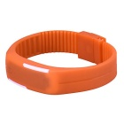 Unisex Lodestone PU Band LED Bracelet Wrist Watch - Orange