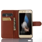 Lichee Pattern Protective Case for HUAWEI  ENJOY 5S - Brown