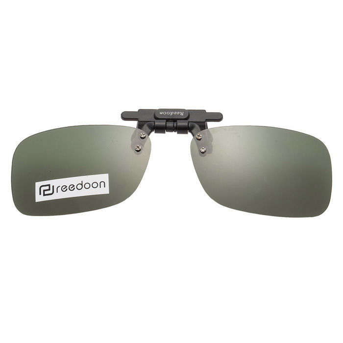 Reedoon 2202 Clip-on UV400 Protection Sunglasses Clip - Dark Green