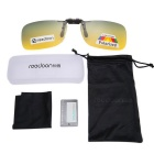 Reedoon 2202 Clip-on UV400 Protection Sunglasses Clip - Yellow + Green