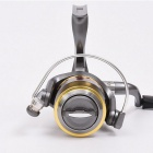 LE4000 Outdoor Sports Fishing Hand-Crank Metal Reel - Silver