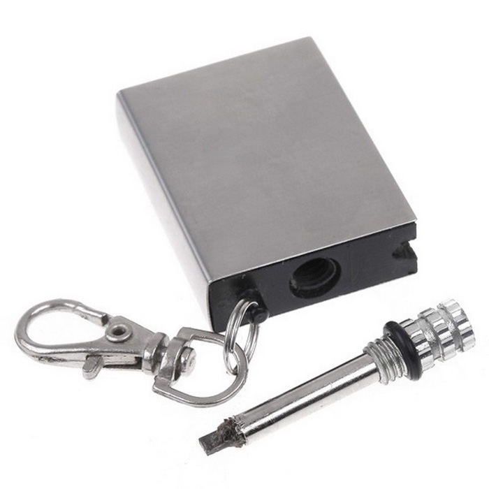 Outdoor Camping Flints Metal Match Fire Starter - Silver