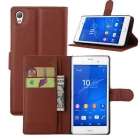 Lichee Pattern Protective Case for Sony Xperia Z2 - Brown