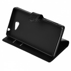 Lichee Pattern Protective Case for Sony Xperia M2 AQUA - Black