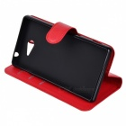 Lichee Pattern Protective Case for Sony Xperia M2 AQUA - Red