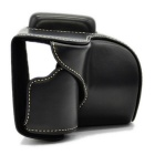 Crazy Horse Leather Camera Case for Samsung NX500 - Black