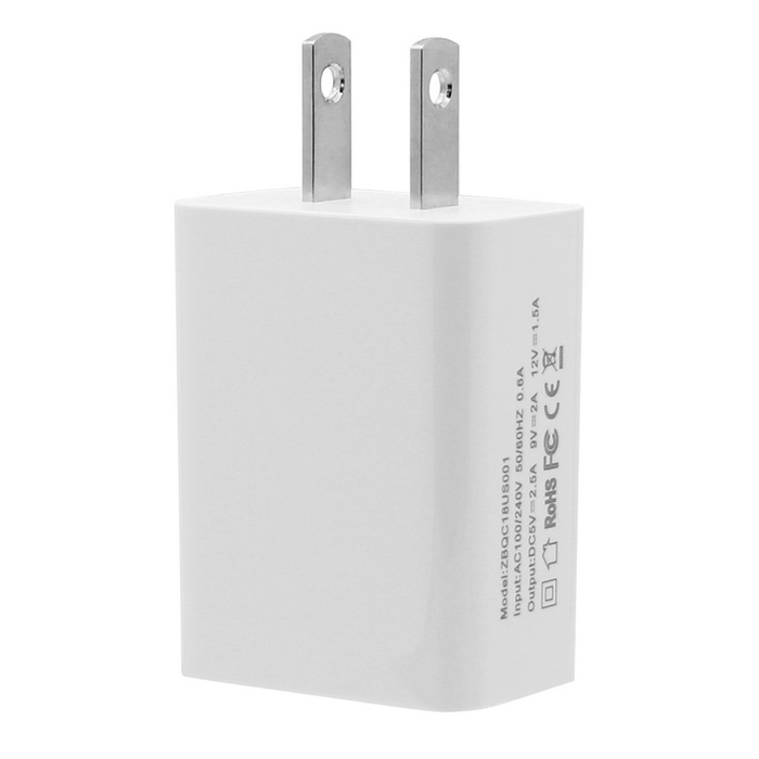 Geekworm Qualcomm QC 3.0 Quick Charger - Bianco (connettori americani / micro USB)