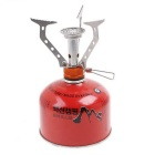 Portable Outdoor Camping Picnic Barbecue Stove - Silver