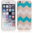 Azul e White Stripes Pattern TPU macio Capa para iPhone 6 / 6S Plus - Multicolor