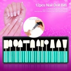 Professional Nail Drill Bit Set voor Nail Art Machine - Wit + Zilver