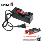 FandyFire 5-Mode Aluminum Textured Tactical Flashlight Kit - Black