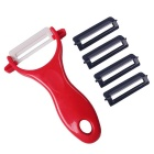 Anti-ferrugem afiada favor do meio ambiente Zirconia Peeler + 4 Peeler Heads Set