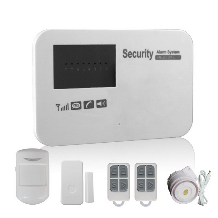 GSM Wireless Smart Alarm Systems w/ Learning Code - White (EU Plug)