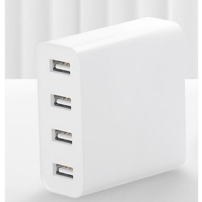 Xiaomi CDQ01ZM 4 USB-port Ladere Adapter - Hvit