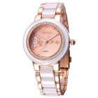 WeiQin 392402 Business Casual Quartz Analog Wrist Watch - Rose Gold
