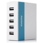 REMAX 1A / 2.1A / 2.4A 5 Ports USB Charger  - White + Blue ( EU Plug )