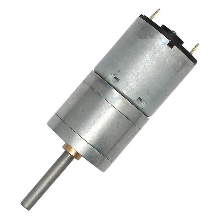 Mini 25mm 6V 100rpm High Torsion DC 340 Gear Motor - Silver