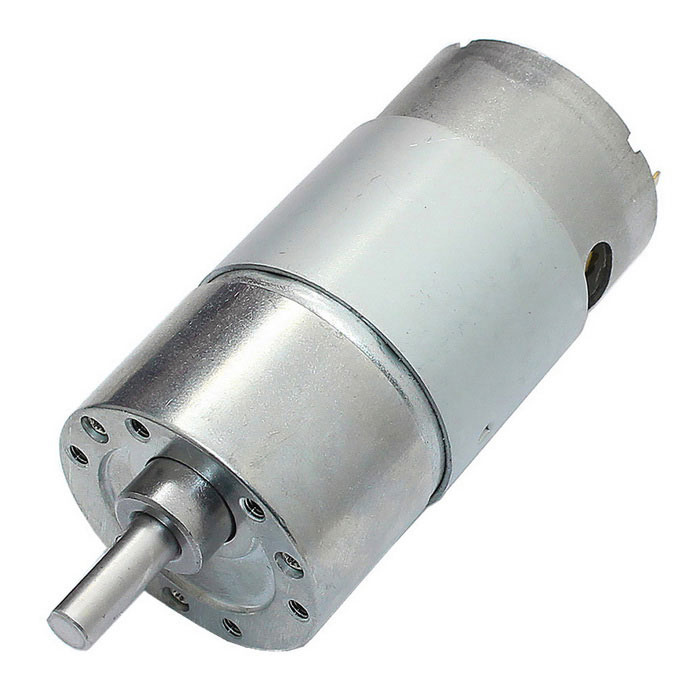 High Torque Diameter37mm DC 24.0V 250 rpm Precision Motor da engrenagem - prata
