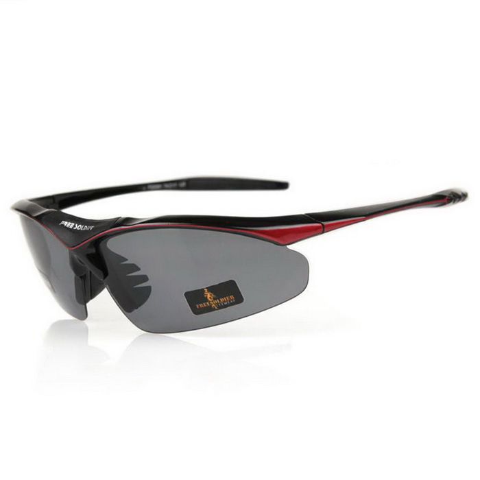 Free Soldier TR90 Frame PC Lens Sunglasses - Grey + Black + Red