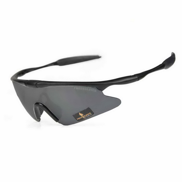 Free Soldier fs-yj96 SWAT UV400 Protection Sports Goggles - Black