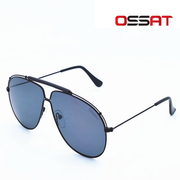 OSSAT 3045 Coating Polarized Sports Sunglasses - Black + Grey