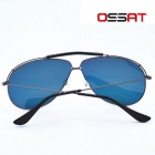 OSSAT 3045 Coating Polarized Sports Sunglasses - Grey + Yellow REVO