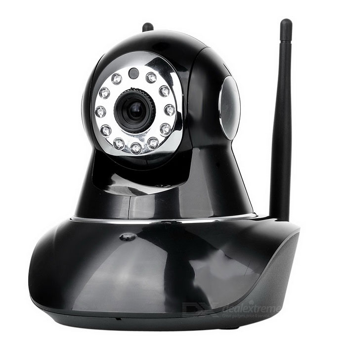 P2P IP Camera for Home / Office / Store Monitoring - Black (US Plugs)