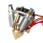 40W 24V 3-in 1-out Mix-color Hotend para Impressora 3D - Branco + Amarelo