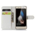 Lichee Pattern Protective Case for HUAWEI  ENJOY 5S - White