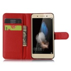 Lichee Pattern Protective Case for HUAWEI ENJOY 5S - Red