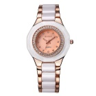 WeiQin 392503 Bezel Dial Quartz Analog Wrist Watch - Rose
