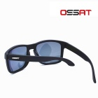OSSAT MX-1009 Coating Polarized Sports Sunglasses - Black + Purple