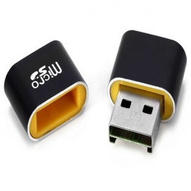 MAIKOU T18 USB 2.0 Micro SD Card Reader - Yellow + Black
