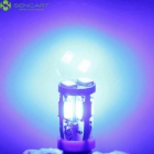 SENCART T10 3W 10-SMD LED Blue Error-Free Canbus Car Clearance Lamp