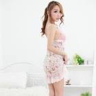 FanYang X03 Women's Fashionable Sexy Translucent Lingerie Suit - Pink
