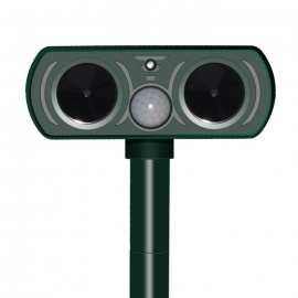 0.2W Solar Power Ultrasonic Wave PIR Pest Animal Repeller - Green