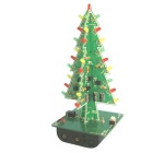 Hengjiaan 3D árvore de Natal kit flash LED - verde + multicolor