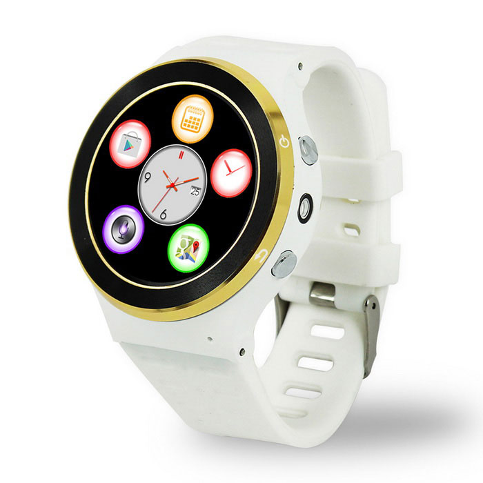 ZGPAX S99 Android 5.1 Smart Watch Phone w/ 512MB RAM, 8GB ROM - White