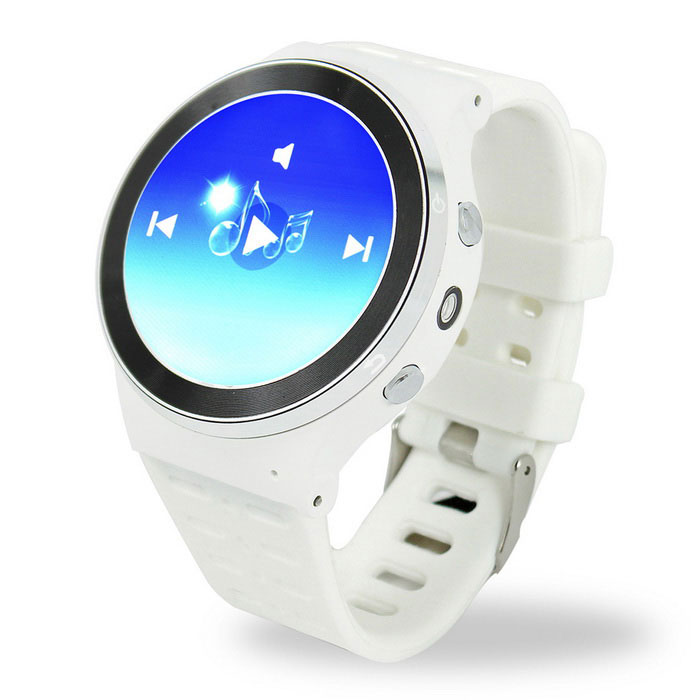 ZGPAX S99 Android 5.1 Smart Watch Phone w/ 8GB ROM - White + Silver